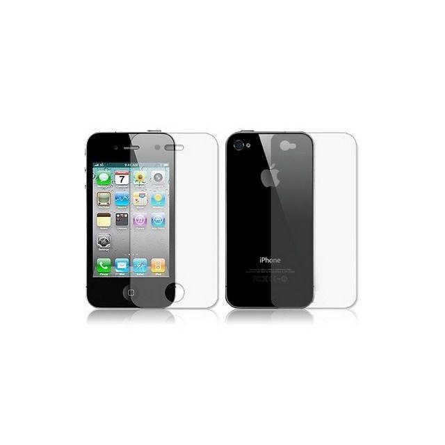 Wewoo - Film protection écran pour iPhone 4 & 4S Transparent 2 en 1 avant + couverture arrière Protecteur
