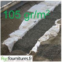Lonodis - Feutre Géotextile Professionnel 105g/m² Lonogeo Hautes Performances - Largeur 1 m