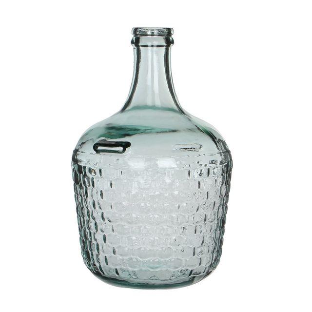 Edelman - Vase Dame Jeanne en verre effet nid d'abeille Diego - Transparent - Petit 0cm x 0cm x 0cm