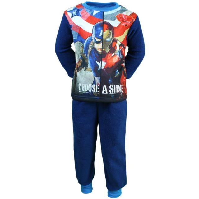 1dd09a0c36762 Avengers - Captain America Pyjama polaire Garçon Choose a Side - pas ...
