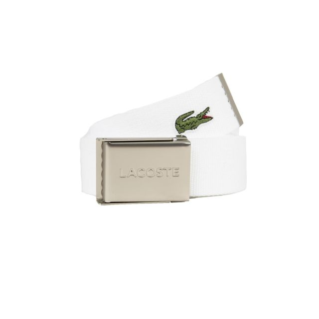 6988320e13d Lacoste - Ceinture rc2012 blanc - pas cher Achat   Vente Ceinture homme -  RueDuCommerce