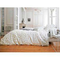 Blanc des Vosges - Taie d'oreiller percale de coton volant fleur marguerite bourdon Echappes Belles - 50x75cmNC