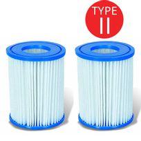 Touslescadeaux - 2 Cartouches de Filtration Bestway pour filtre piscine - Bestway Type Ii