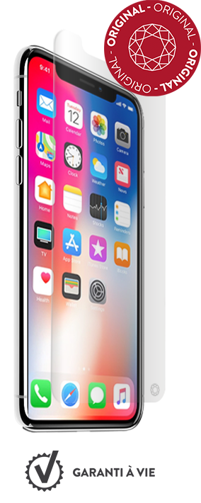 Verre trempe iPhone X - Transparent