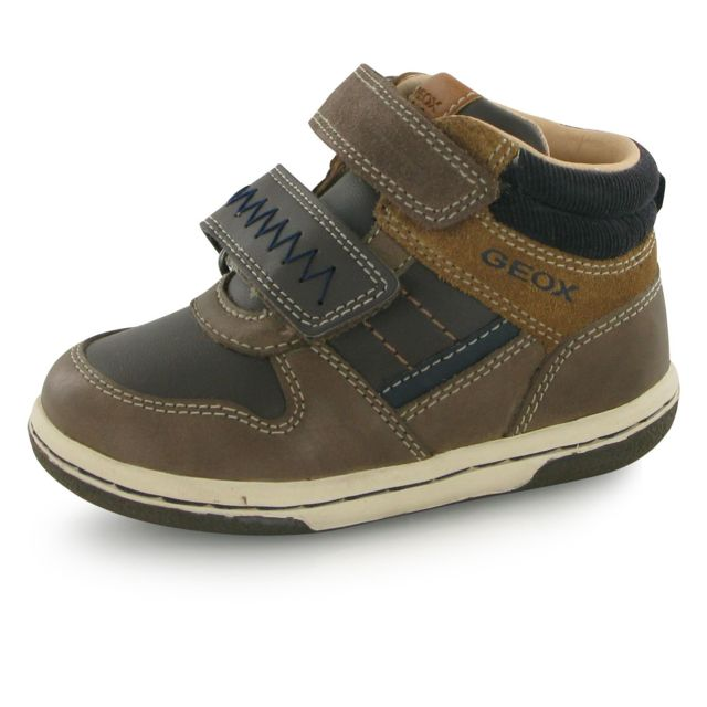 Geox - Baskets Flick Boy Velcro Marron Bebe 20 - pas cher Achat   Vente  Chaussures, chaussons - RueDuCommerce d0d201644f60