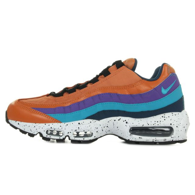 Nike Air max 95 premium Orange, Violet, Bleu pas cher