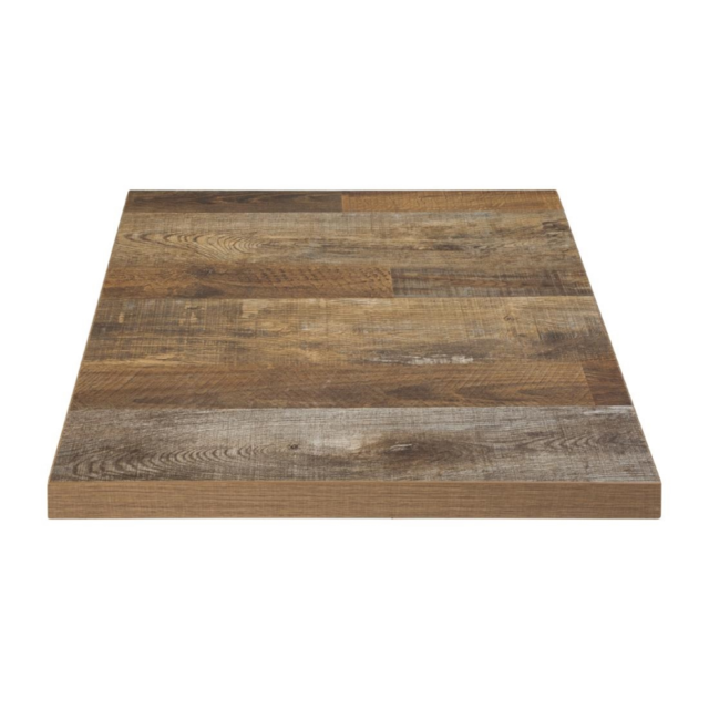 Materiel Chr Pro Plateau de Table Carré 700 mm - Effet Bois Vielli - Bolero - Effet bois vielli 700 mm