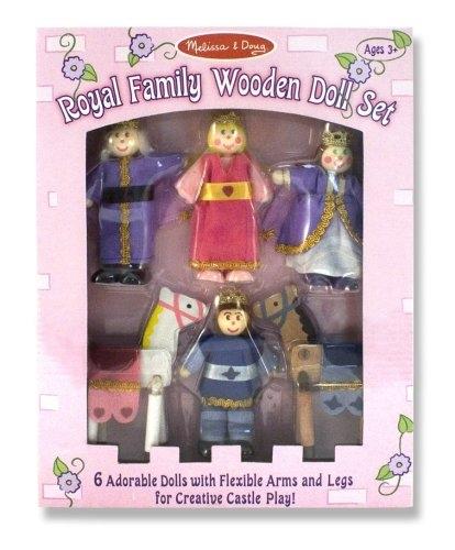 10286 - PoupÉE Et Mini PoupÉE - Royal Family Wooden - Doll Set