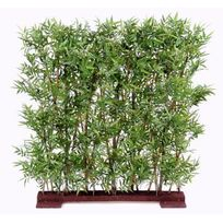 Artificielflower - Haie artificielle Bambou Oriental feuillage dense - intérieur - H.110cm vert - taille : 110 cm