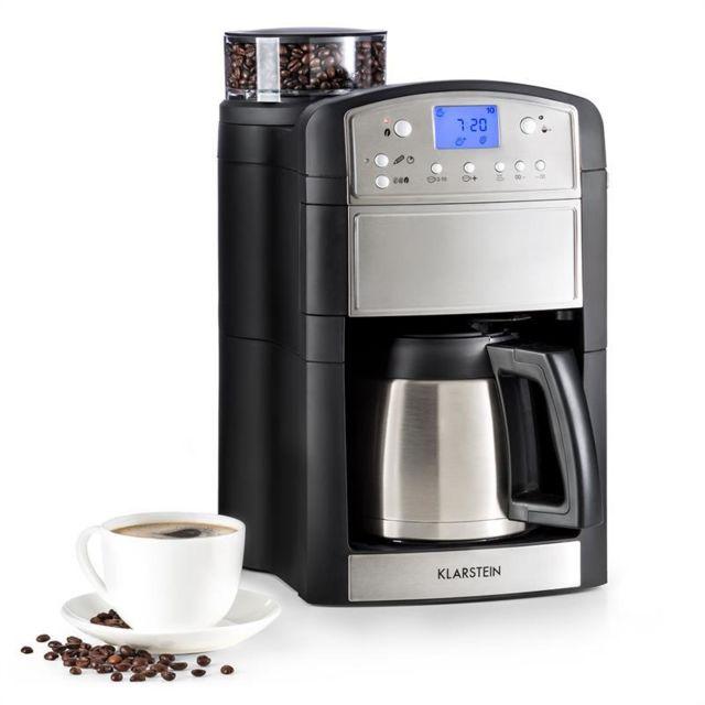 KLARSTEIN Aromatica Thermos machine à café cafetière moulin verseuse thermos Aroma+ inox