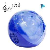 Wewoo - Enceinte Bluetooth d'intérieur bleu pour iPhone, Galaxy, Sony, Lenovo, Htc, Huawei, Google, Lg, Xiaomi, autres smartphones et tous les périphériques Led Light Magic Crystal Ball Mini haut-parleur avec télécommande, support Tf carte