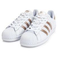 adidas superstar blanche et rose gold
