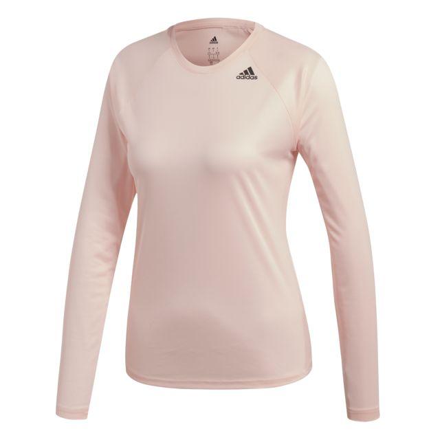 Adidas T shirt manches longues femme D2M pas cher Achat
