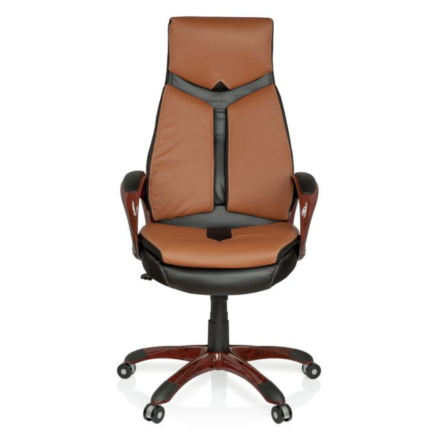 Hjh Office Chaise de bureau/Fauteuil direction Ergo 100 marron/noir