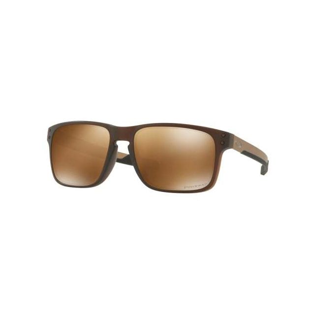 ca2b72804b8a83 Oakley - Lunettes Holbrook Mix Matte Root Beer avec verres Prizm Tungsten  Polarized