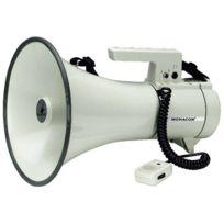 Monacor - Mégaphone 35 W blanc Tm-35 460 mm