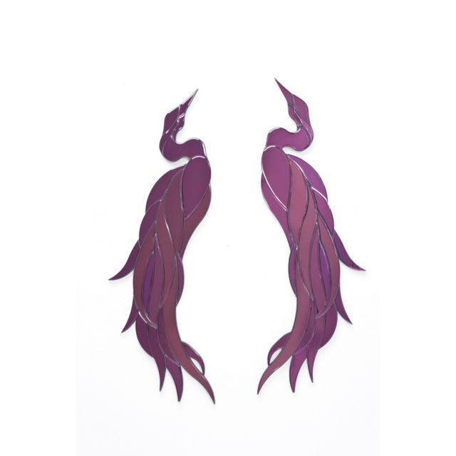 Karedesign Décorations murales Phoenix Violet set de 2 Kare Design
