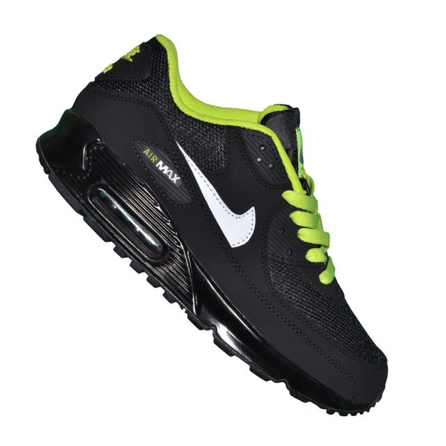 f38ac995c4a Nike - Basket - Homme - Air Max 90 Essential 44 - Black Fluo Vert - pas  cher Achat   Vente Baskets homme - RueDuCommerce