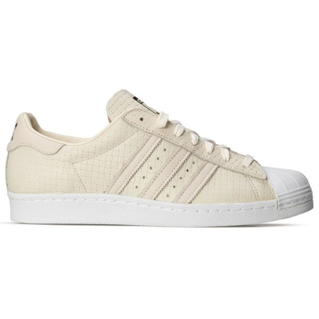 Adidas Superstar 80 's Woven Baskets Blanc Beige Beige