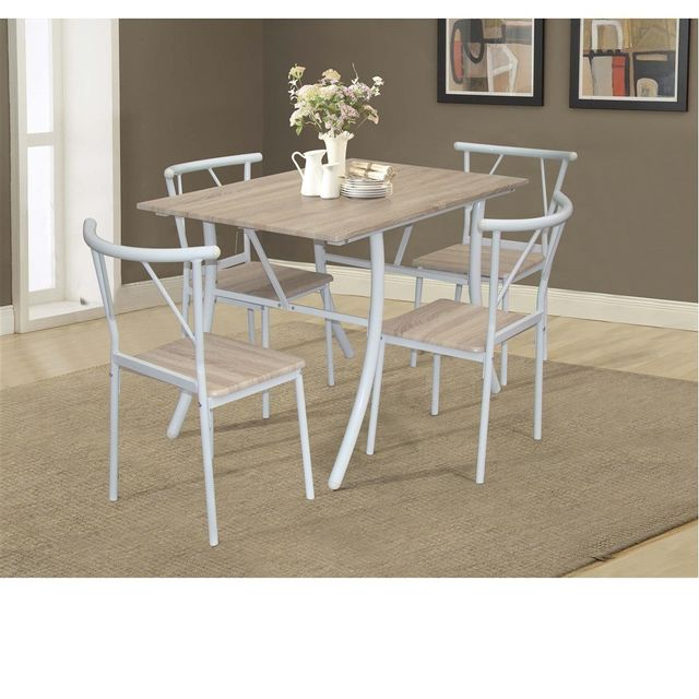 Les Douces Nuits de Maé - Table salle à manger + 4 chaises beige ...