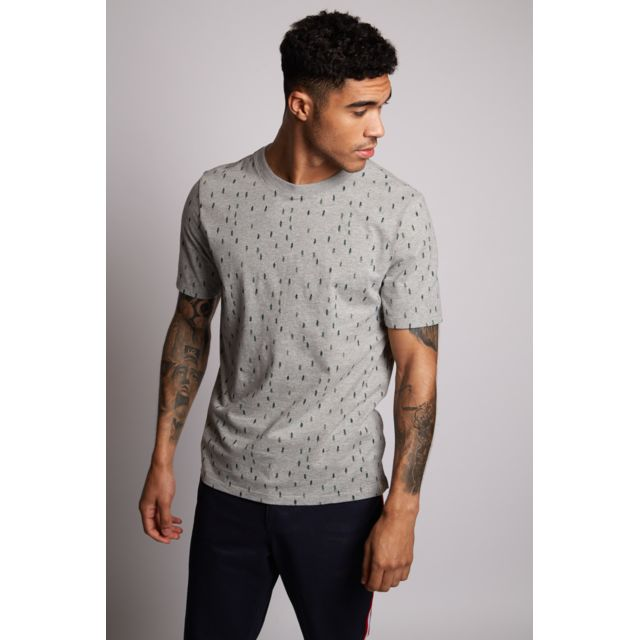 HYMN Tee-shirt homme gris Tee-shirt col rond, manches courtes