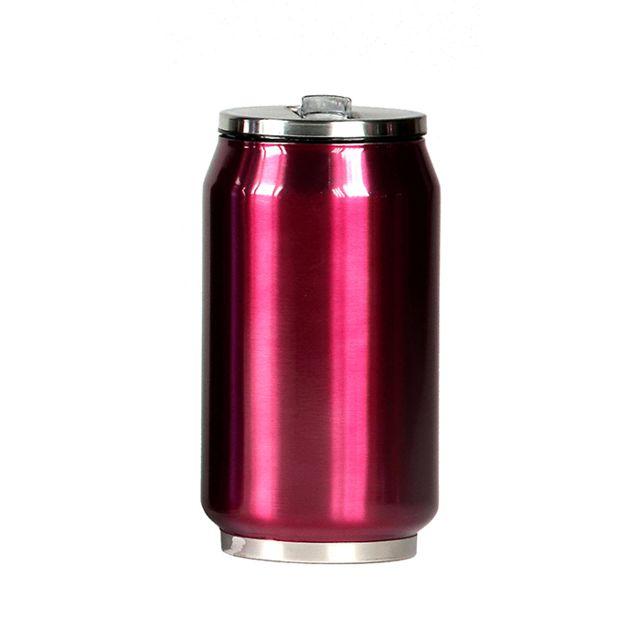 YOKO DESIGN Mug canette isotherme inox 280 ml - Rose