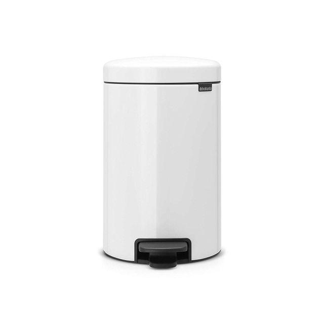 brabantia poubelle newicon 12 l blanc liner en m tal pas cher achat vente poubelle de. Black Bedroom Furniture Sets. Home Design Ideas