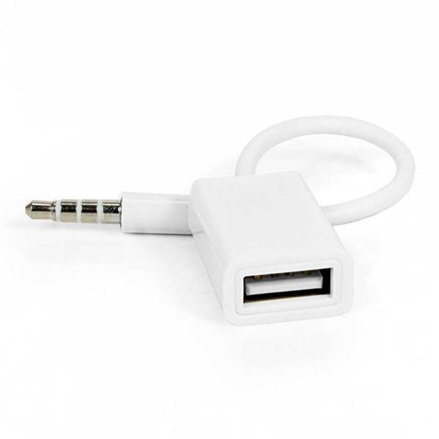 Cabling - Cabling® Adaptateur jack 3,5 male vers Usb 2.0 femelle pour prise 34710f691a98