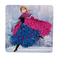 Orb Factory - Set créatif La Reine de Neiges Frozen, : Cadre en tissu numéroté Anna