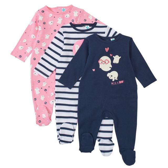 ab6b6553f17ed TEX BABY - Lot de 3 pyjamas bébé en coton - pas cher Achat   Vente ...