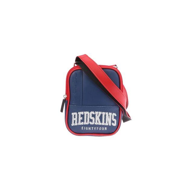 fac6eae2e2 Redskins - Petite sacoche plate à bandoulière en simili cuir bleu marine et  rouge - pas cher Achat / Vente Besaces - RueDuCommerce