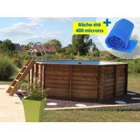 Piscines hors sol bois achat piscines hors sol bois pas for Bache piscine sunbay