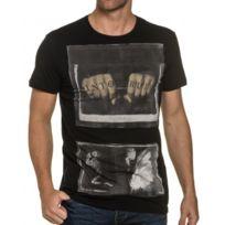 Religion clothing - Tee shirt noir imprimé tatouage et squelette