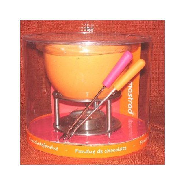 Mastrad Service à Fondue Au Chocolat Orange