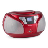 Oneconcept - Groovie Rd Wh Boombox Bluetooth Cd Ukw Aux Mp3 rouge