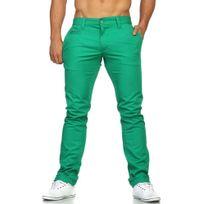 Rerock - Pantalon chino tendance Chino Rr54 vert