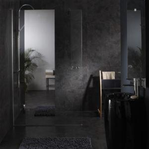 planetebain paroi de douche fixe avec bande effet miroir integre 120x195 cm pas cher achat. Black Bedroom Furniture Sets. Home Design Ideas