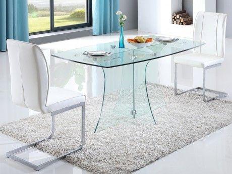Marvelous table a manger transparente 8 grande table for Grande table en verre