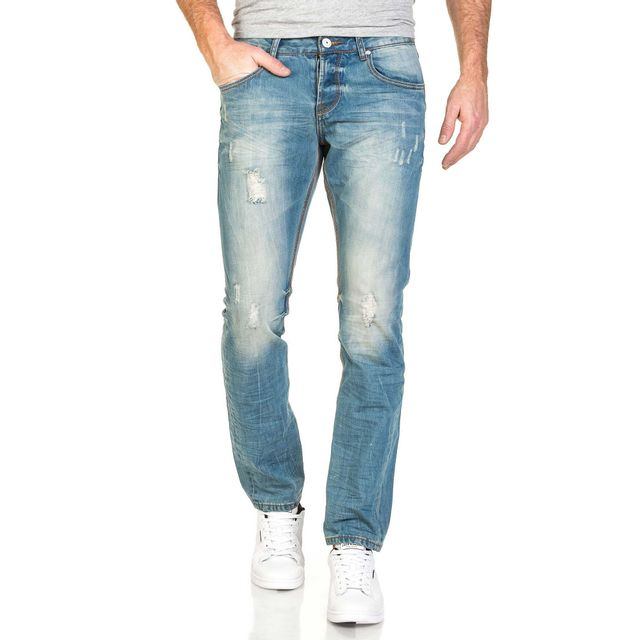 BLZ Jeans - Jean homme bleu clair délavé usé 44 - pas cher Achat ... ddedbebbb8ab