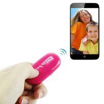 Yonis - Télécommande smartphone Android iOS Bluetooth retardateur photo rose