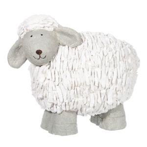J line mouton polyr sine blanc gris 42 cm pas cher for Mouton deco jardin