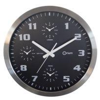 Orium - Horloge 4 temps a piles 40 cm gris