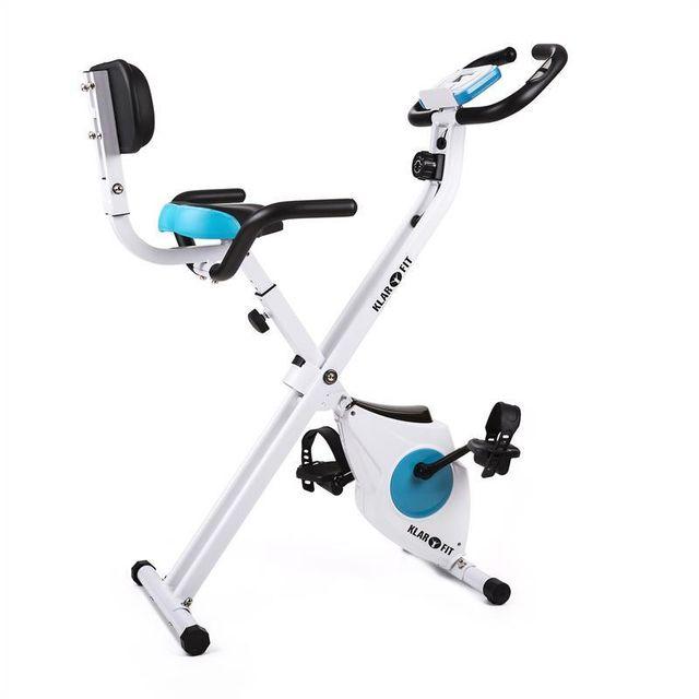 KLARFIT - Azura vélo d'appartement pliable avec dossier et accoudoir pulsomètre Régulière