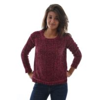 Edc By Esprit - Pull hiver pattern sweater rouge M