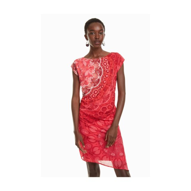 pas mal c82c9 a706d Robe India Rouge 18SWVWXA - Taille - 46