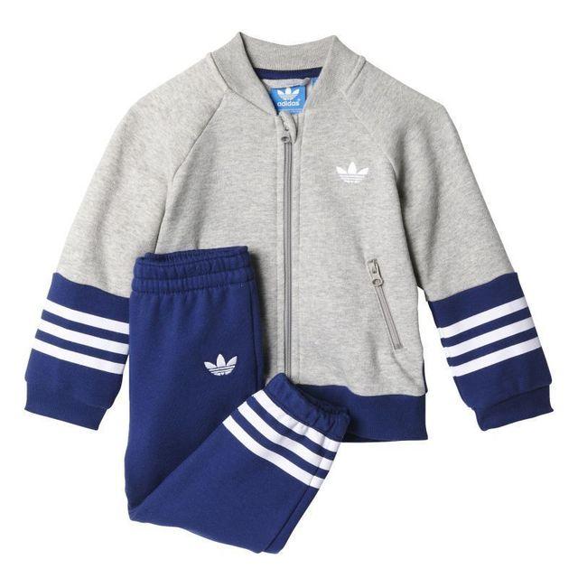 28c4607a4232f Adidas - Jogging bébé fleece superstar Bleu - Taille unique - pas cher Achat    Vente Survêtement femme - RueDuCommerce