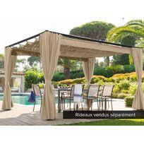 HESPERIDE - Tonnelle de jardin Palmeira 4 x 3 m Sable