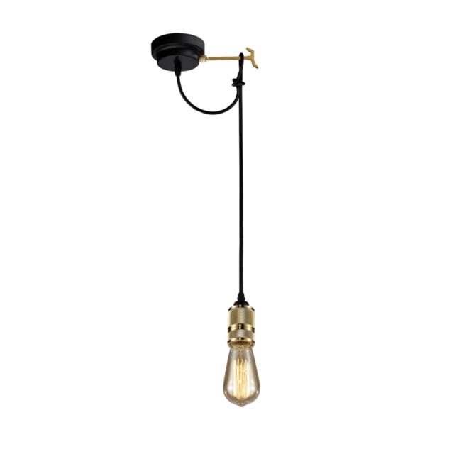 Kosilum - Lampe suspendue noire et dorée - Sekka - pas cher Achat ...