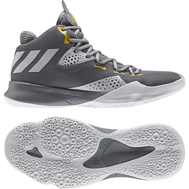new style f587d 784ee Adidas - Chaussures Dual Threat 2017 grisgrisgris - pas cher Achat   Vente Chaussures basket - RueDuCommerce