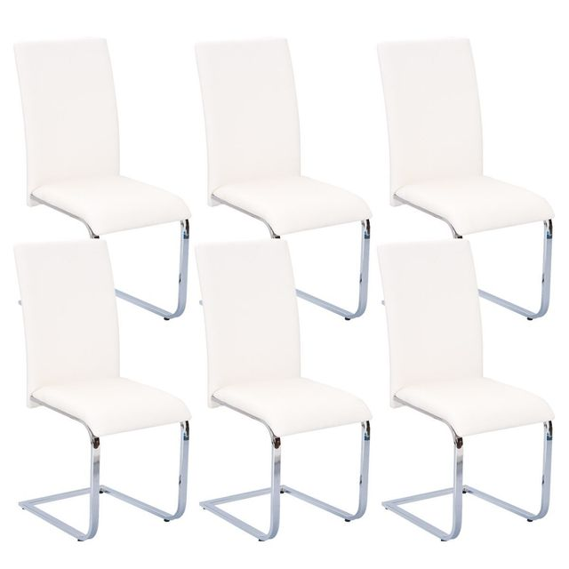 Brooklyn Lot 6 Chaises Blanches
